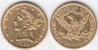 5 Dollars GOLD 1899 S USA Half Eagle sehr schön  319,00 EUR