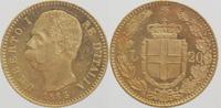 20 Lira Gold 1883 R Italien Umberto I. 1878-1900 vorzüglich  269,00 EUR