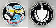 10 Pesos Silber-Farbmünze 1994 Kuba Albatros D.II PP in Kapsel  19,00 EUR  +  6,00 EUR shipping