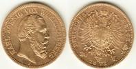 20 Mark GOLD 1873 F Württemberg Karl 1864-1891 sehr schön  329,00 EUR