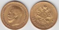 10 Rubel GOLD 1899 Rußland Nikolaus II. 1894-1917 sehr schön+  359,00 EUR