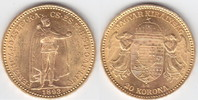 "20 Korona GOLD 1893 Ungarn ""Franz Josef I., 1848-1916"" vorzüg... 269,00 EUR"
