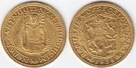 GOLD Dukat 1934 Tschechoslowakei Hl. Wenzel 1 Kratzer, vz-prfr, selten!!!  995,00 EUR