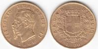 20 Lire GOLD 1868 Italien Vittorio Emanuele II. 1861-1878 sehr schön+  239,00 EUR