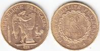 Frankreich 20 Francs GOLD 3.Republik 1870-1940