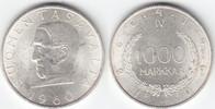 1000 Markkaa 1960 Finnland 100 Jahre Finnisches Geld prägefrisch-  30,00 EUR