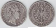 2 Mark 1876 D Bayern Ludwig II. 1864-1886 schön  33,00 EUR