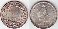 2 Franken Silber 1957 Schweiz  stempelglanz fein  30,00 EUR
