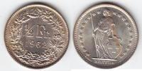 1/2 Franken Silber 1962 Schweiz  Stempelglanz  5,00 EUR