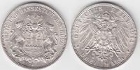 3 Mark 1914 J Hamburg  kl. RF, fast prägefrisch  38,00 EUR