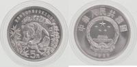 5 Yuan Silber 1986 China 25 Jahre WWF, Pandabär Stempelglanz in Kapsel  69,00 EUR