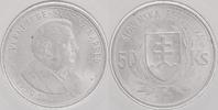 """50 Kronen Silber 1944 Slowakei """"Jozef Tiso"""" prägefrisch-stemp... 18,00 EUR"""