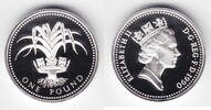 1 Pfund Silber 1990 Großbritannien Elisabeth II. seit 1952, Wappen von ... 19,00 EUR  +  6,00 EUR shipping