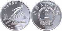 China  10 Yuan Silber 1992 PP Proof in Kapsel Winterolympiade, Skispringen 35,00 EUR