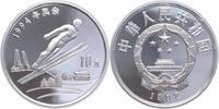 10 Yuan Silber 1992 China Winterolympiade, Skispringen PP Proof in Kapsel  22,00 EUR  +  6,00 EUR shipping