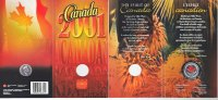 Kanada 25 Cents 2001 Stempelglanz in Originalfolder The Spirit of Canada... 7,00 EUR 