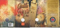 Kanada 25 Cents 2002 Stempelglanz in Originalfolder Celebration, Farbmünze 7,00 EUR