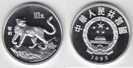 China 10 Yuan Silber 1992 PP Proof in Kapsel Schneeleopard 89,00 EUR