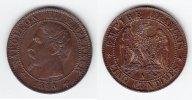 5 Centimes 1855 A Frankreich Napoleon III. 1852-1870 fast prägefrisch  55,00 EUR