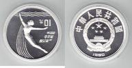 10 Yuan Silber 1990 China Olympiade 1992 Barcelona, Turmspringerin PP P... 26,00 EUR