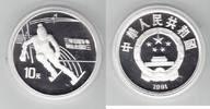 China 10 Yuan Silber 1991 PP Proof in Kapsel Winterolympiade 1992, Slalom 28,00 EUR