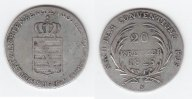 20 Kreuzer 1825 S Sachsen-Coburg-Saalfeld Ernst 1806-1826 sehr schön  88,00 EUR  +  10,00 EUR shipping