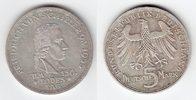 5 Mark 1955 F BRD Friedrich von Schiller vorzüglich  169,00 EUR