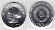 20 Mark Silber 1968 DDR Karl Marx übl. leicht beschlagen, f.prfr.  43,00 EUR  +  10,00 EUR shipping