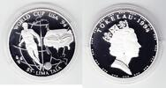 Tokelau 5 $ Lima Tala 1994 PP Proof in Kapsel Fußball-WM 1994 30,00 EUR