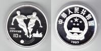 China 10 Yuan Silber 1993 PP Proof in Kapsel Fußball-WM 1994 32,00 EUR