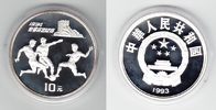 China 10 Yuan Silber 1993 PP Proof in Kapsel Fußball-WM 1994 30,00 EUR