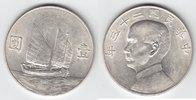 1 Dollar Silber Jahr 22 = 1934 China Schiffsmotiv / Dr. Sun Yat Sen vor... 79,00 EUR  +  10,00 EUR shipping