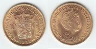 10 Gulden GOLD 1911 Niederlande Wilhelmina I. 1890-1948 prägefrisch  229,00 EUR
