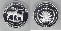 1 Taka Silber 1993 Bangladesch Gefährdete Tierwelt, Fleckenhirschkuh mi... 30,00 EUR  +  6,00 EUR shipping