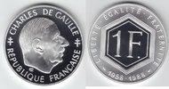 1 Franc Silber 1988 Frankreich Charles de Gaulle PP Proof in Kapsel  20,00 EUR