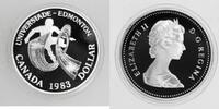 1 Dollar 1983 Kanada Universiade in Edmonton PP Proof in Kapsel  10,00 EUR