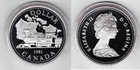 1 Dollar 1981 Kanada 100 Jahre Eisenbahn PP Proof in Kapsel  9,00 EUR  +  6,00 EUR shipping