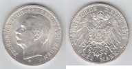 3 Mark 1914 G Baden Friedrich II. 1907-1918 fast stempelglanz  69,00 EUR  +  10,00 EUR shipping