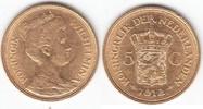 5 Gulden GOLD 1912 Niederlande Wilhelmina I. 1890-1948 sehr schön  129,00 EUR
