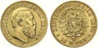 1880 H  10 Mark Hessen Ludwig IV vorzüglich +  1495,00 EUR  Excl. 7,00 EUR Verzending
