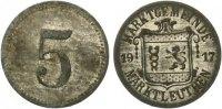 1917   Marktleuthen - Zink vernickelt 1917 (Funck 322.1) 5 Pfennig vz  55,00 EUR  Excl. 7,00 EUR Verzending