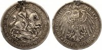 1915  3 Mark Mansfeld Belegstück deutliche Henkelspur Randausbruch  365,00 EUR335,00 EUR  +  7,00 EUR shipping