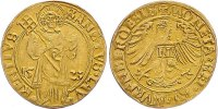f.vz NÜRNBERG STADT Goldgulden 1523 St. Laurentius  1750,00 EUR No additional tax+  7,00 EUR shipping
