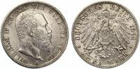 1914  2 Mark Württemberg vz-st  60,00 EUR  Excl. 7,00 EUR Verzending