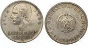 1929A  5 Mark Lessing fast vz  100,00 EUR