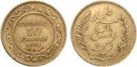 1891  Tunesien Französisches Protektorat 10 Francs Gold 1891 vz  185,00 EUR  Excl. 7,00 EUR Verzending