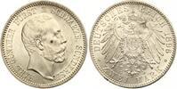 1896  2 Mark Schwarzburg Sondershausen vz-st/st Aver kl Kratzer  795,00 EUR  +  7,00 EUR shipping