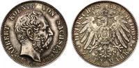 1902  2 Mark Sachsen 1902 Albert auf Tod vz/st wunderschöne Patina  95,00 EUR  +  7,00 EUR shipping