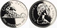 1986 prooflike 1 Dollar Vancouver Eisenbahn 12,00 EUR  +  4,00 EUR shipping