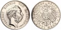 1902  2 Mark Sachsen 1902 Albert auf den Tod vz  70,00 EUR  Excl. 7,00 EUR Verzending